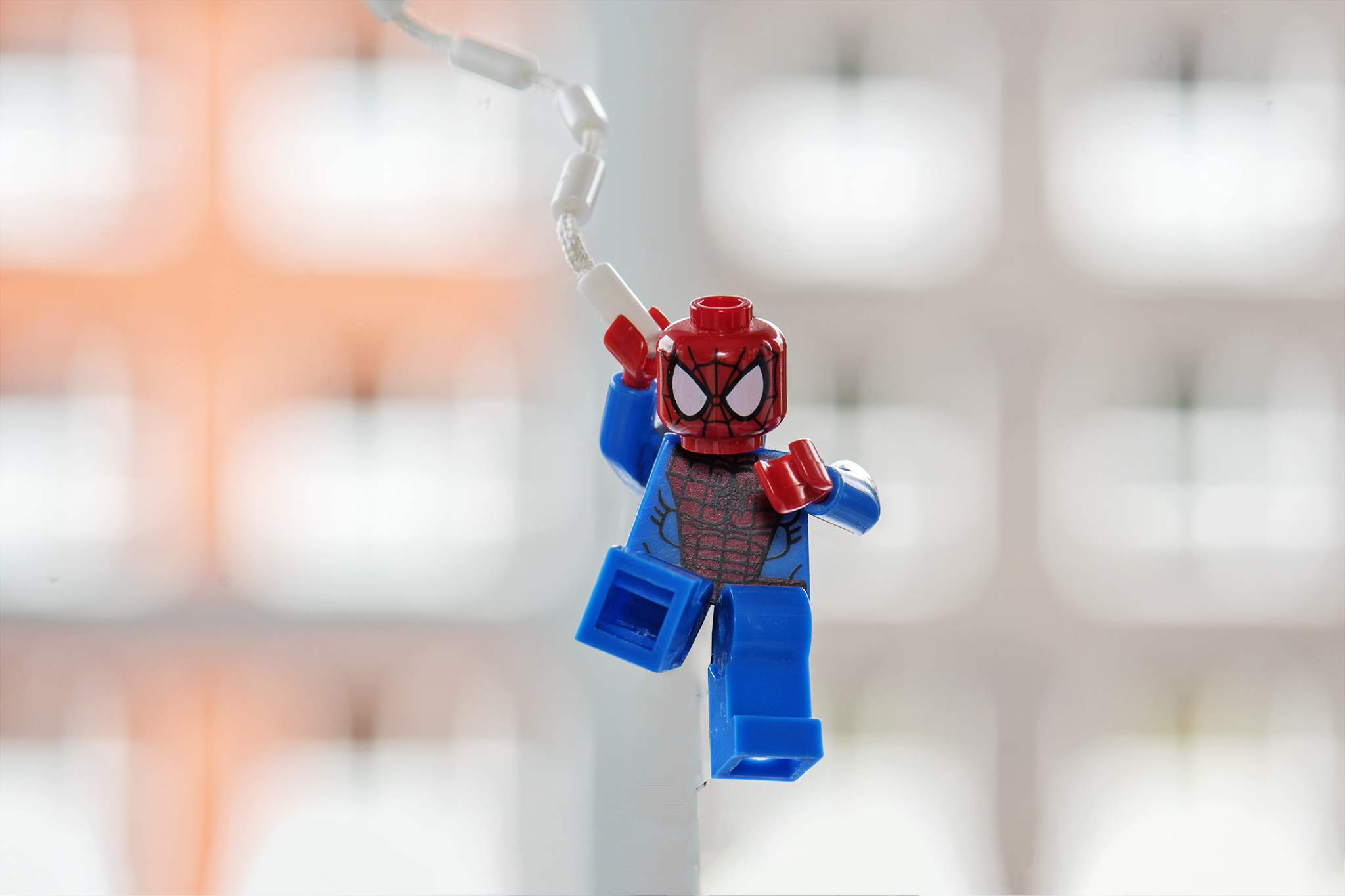 LEGO Spider-Man swinging