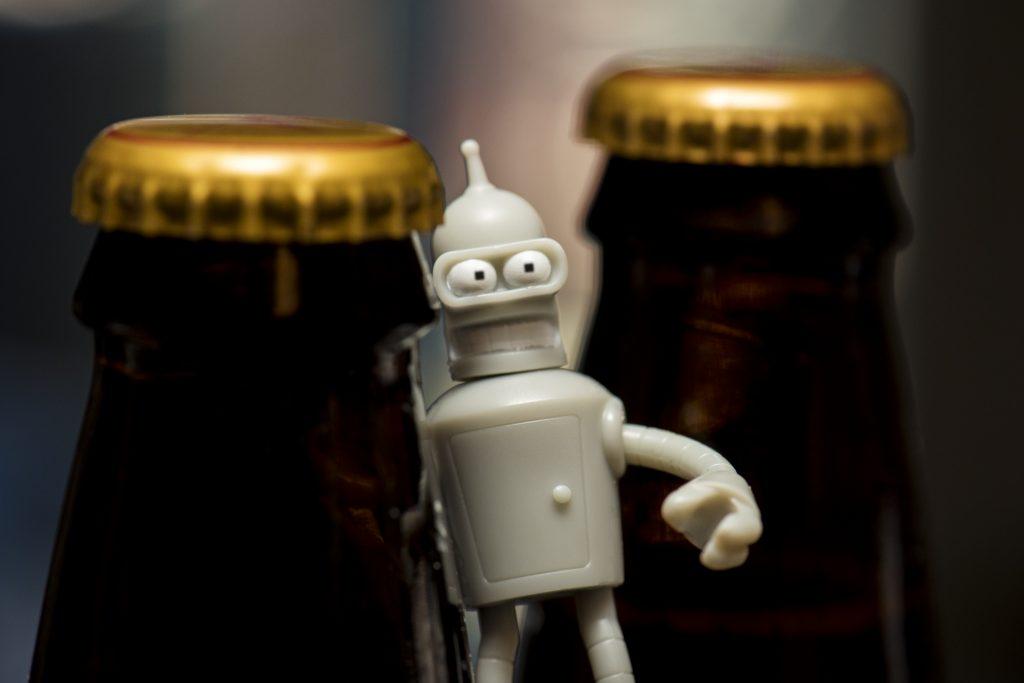 Bender looking for libations