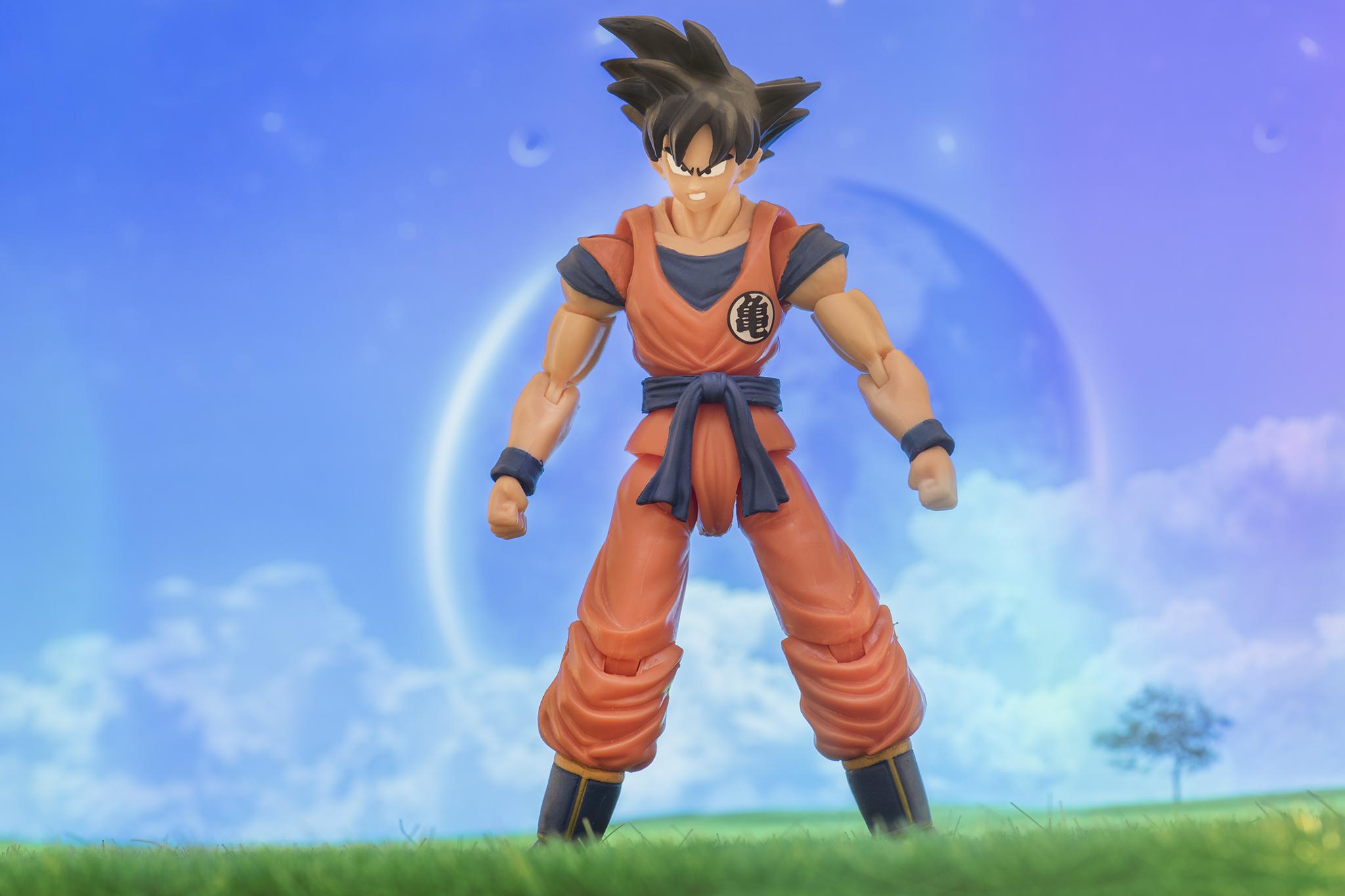 Goku waiting for the next battle