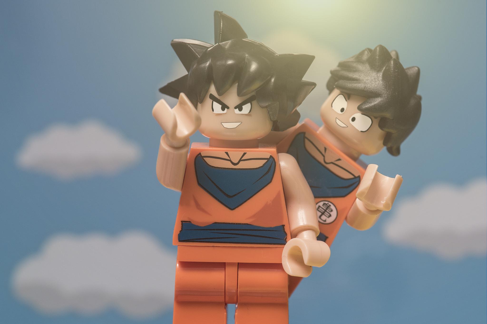 Goku and Gohan LEGOs