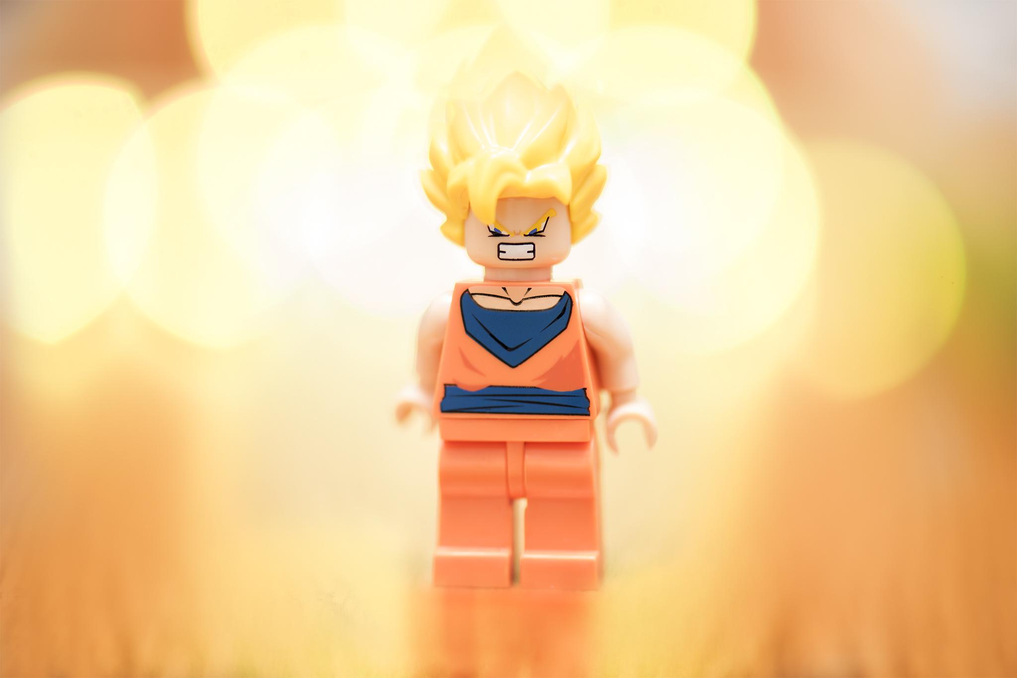 LEGO Goku going super saiyan!