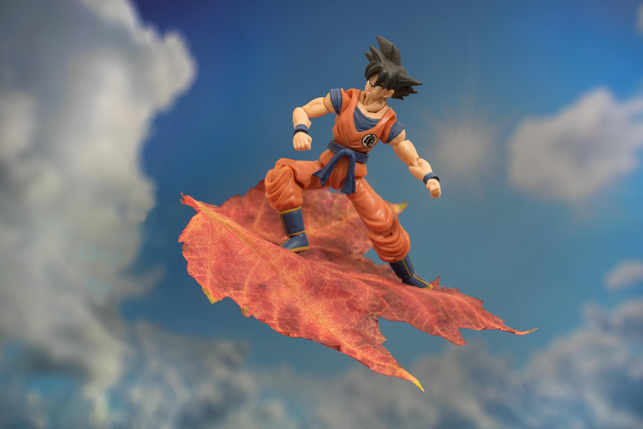 Goku flying into fall