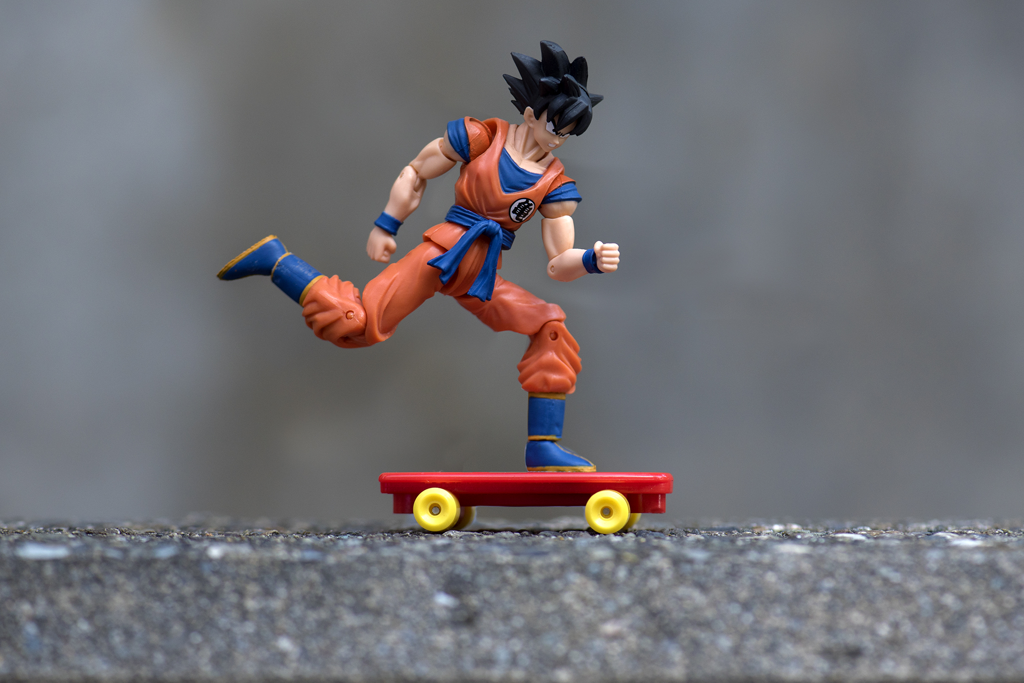 Goku Skateboarding